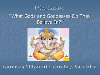 Hindu God and Goddess - Gurumaa Vidyavati