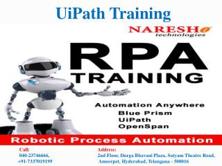 UiPath Training Best RPA Training Institute In Hyderabad
