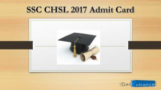 SSC CHSL 2017 Admit Card