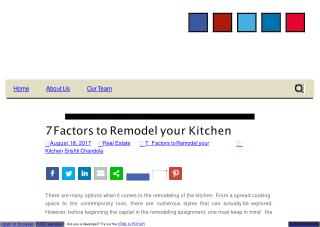 7 factors to remodel your kitchen