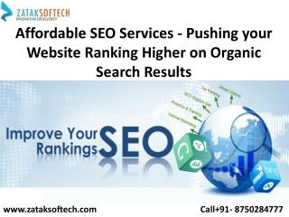 Affordable SEO Services - Pushing your Website Ranking Higher on Organic Search Results
