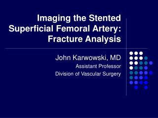 Imaging the Stented Superficial Femoral Artery: Fracture Analysis