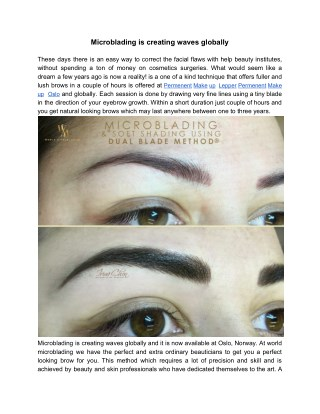 Microblading is creating waves globally