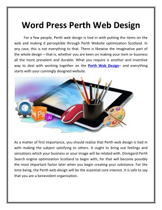 Word Press Perth Web Design