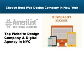 Choose Best Web Design Company in New York