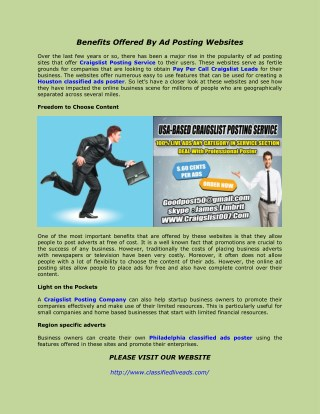 Pay Per Call Craigslist Leads