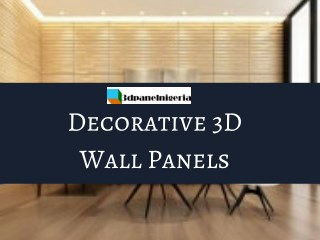 3 D Wall Decor Panels Modern