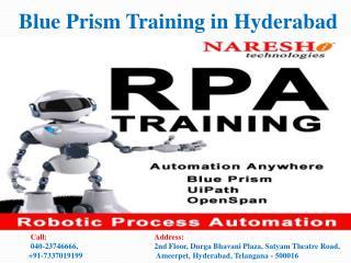 Blue Prism Training in Hyderabad-Best RPA Training Institute   In Hyderabad