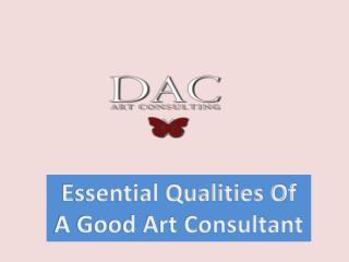 Essential Qualities Of A Good Art Consultant