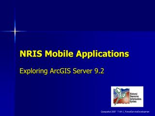 NRIS Mobile Applications