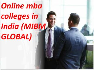 Both MBA and PGDBA Online mba colleges in India