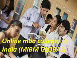 For a better career online mba colleges in India