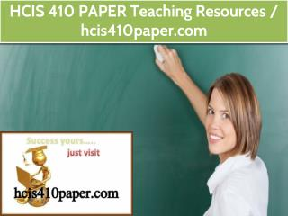 HCIS 410 PAPER Teaching Resources / hcis410paper.com