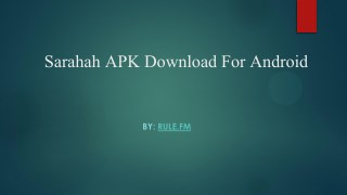 Sarahah APK Download For Android