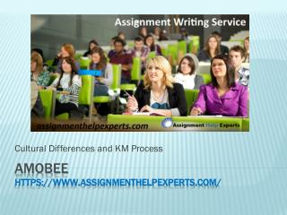 Assignment Help Cultural Difference and KM