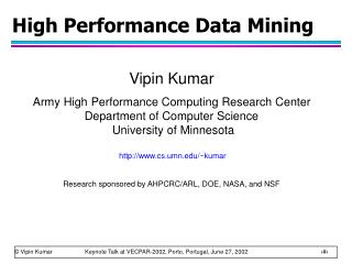 High Performance Data Mining