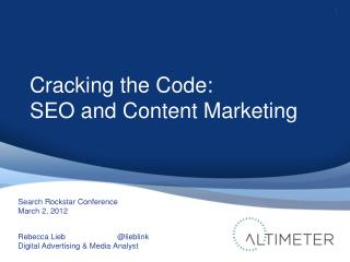 Cracking the Code: SEO & Content Marketing