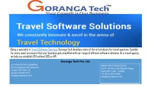 Travel software service in London
