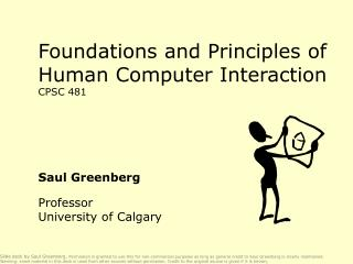 Foundations and Principles of Human Computer Interaction CPSC 481