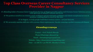 Top Class Overseas Career Consultancy Services Provider in Nagpur
