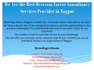We Are the Best Overseas Career Consultancy Services Provider in Nagpru