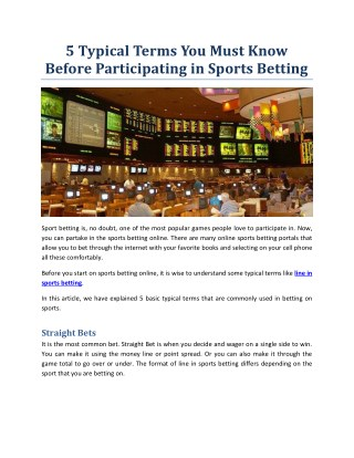 PPT - Agen SBOBET-Betting Agents and Bookies Roles to Offer Online Soccer Betting Facilities ...
