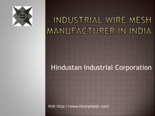 Wire Mesh Manufacturing Company in India