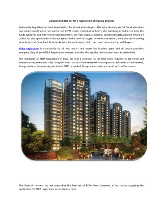 Real estate company in Gurgaon