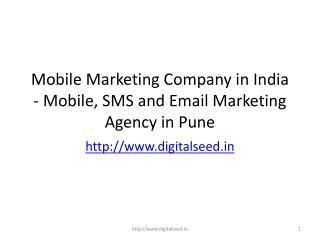 Mobile marketing company in Pune | Digitalseed India