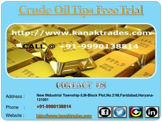 Gold Jackpot Tips, Crude Oil Tips Free Trial