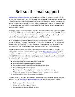 Bellsouth Email support