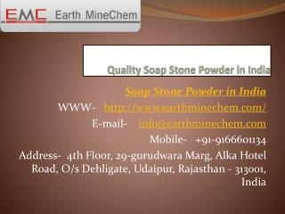 Quality Soap Stone Powder in India