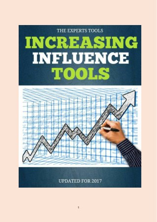 Top Increasing Influence Tools