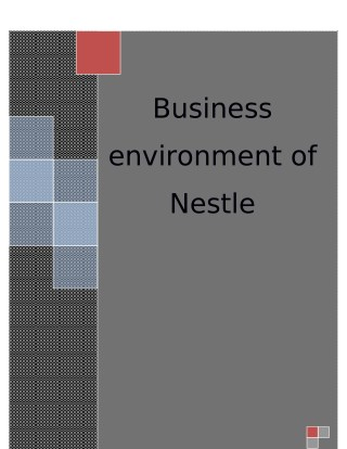 Business Environment Sample Of Nestle
