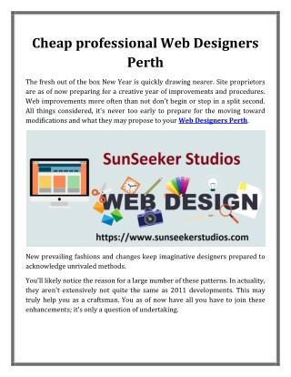 Cheap professional Web Designers Perth