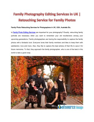 Family Photography Editing Services in UK | Retouching Service for Family Photos