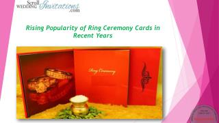 Rising Popularity of Ring Ceremony Cards in Recent Years