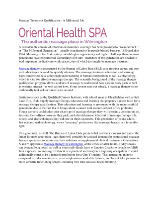 Oriental Healthy Massage