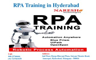 RPA Training in Hyderabad