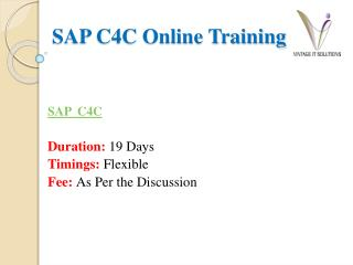 SAP C4C Online Training PPT | SAP C4C Training in Bangalore