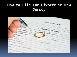How to File For Divorce in New Jersey