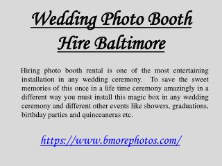 Wedding Photo Booth Hire Baltimore