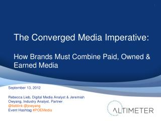 Converged Media - Altimeter Group Webinar
