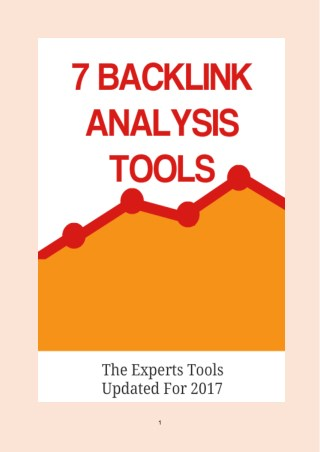 TOP 7 BACKLINK ANALYSIS TOOLS