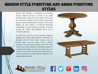Mission Style Furniture and Amish Furniture Styles