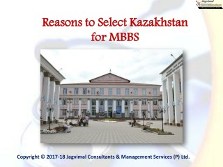 Reasons to Select Kazakhstan for MBBS
