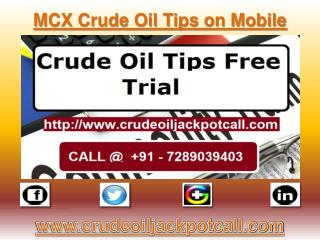 MCX Crude Oil Tips on Mobile, Crude Oil Tips Provider in India