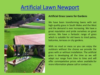 Artificial Grass suppliers Newport