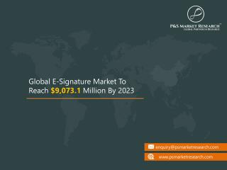 E-Signature Market Size, Share, Development, Growth and Demand Forecast