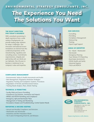 ENVIRONMENTAL STRATEGY CONSULTANTS, INC